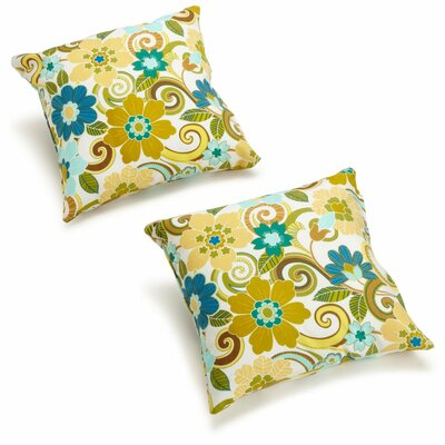 Dewald Outdoor Throw Pillow Color: Veranda Cosmo