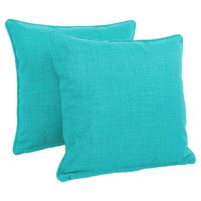 Dewald Outdoor Throw Pillow Color: Aqua Blue