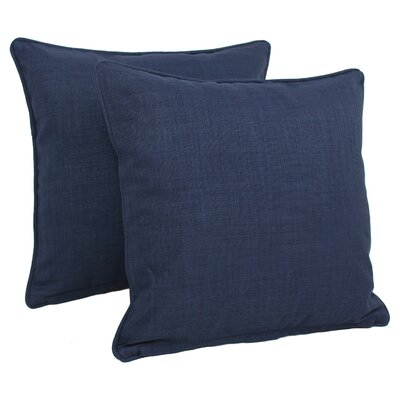 Duquette Outdoor Throw Pillow Color: Azul