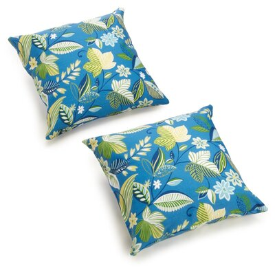 Edmonson All Weather Outdoor Throw Pillow Color: Skyworks Carribean