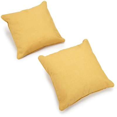Dewald Outdoor Throw Pillow Color: Lemon