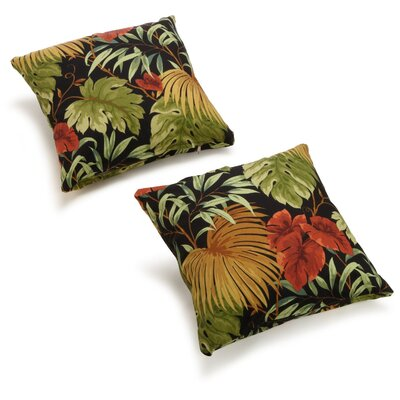 Dewald Outdoor Throw Pillow Color: Tropique Raven