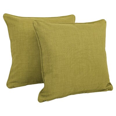 Duquette Mix Pattern Outdoor Throw Pillow Color: Emerald