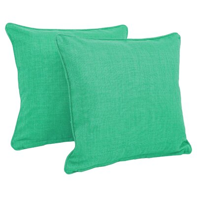 Dewald Outdoor Throw Pillow Color: Emerald