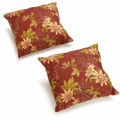 Duquette Outdoor Throw Pillow Color: Passion Ruby