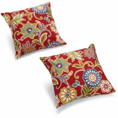 Duquette Outdoor Throw Pillow Color: Basalto Cherry