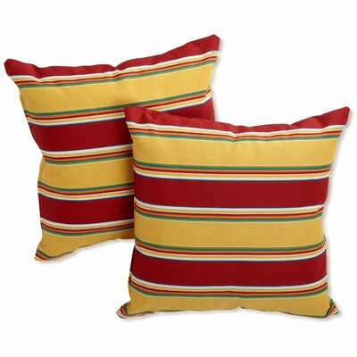 Edmonson All Weather Outdoor Throw Pillow Color: Haliwell Multi