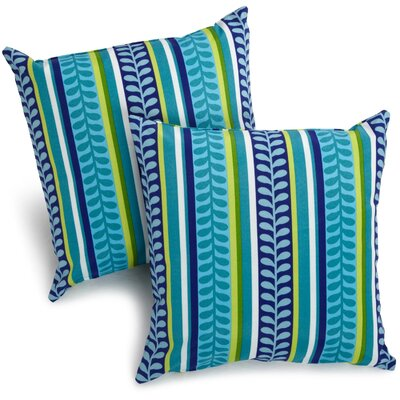 Duquette Outdoor Throw Pillow Color: Pike Azure