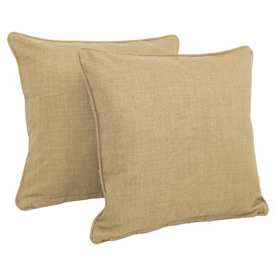 Cadwallader Solid Outdoor Throw Pillow Color: Sandstone