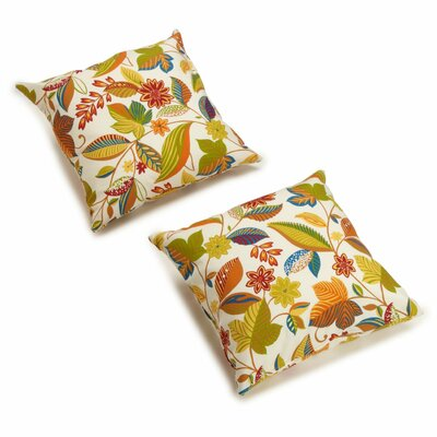 Dewald Outdoor Throw Pillow Color: Skyworks