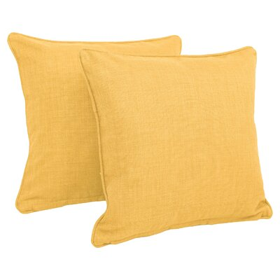 Duquette Outdoor Throw Pillow Color: Lemon