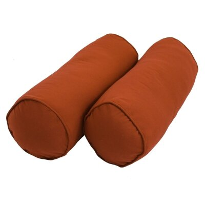 Leesburg Solid Twill Bolster Pillow Color: Spice