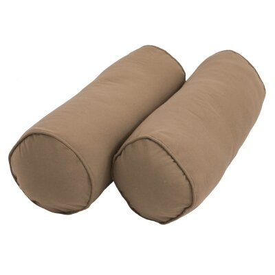 Leesburg Solid Twill Bolster Pillow Color: Toffee