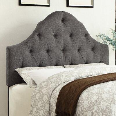 Howe Curved B/T King Upholstered Panel Headboard Color: Hayden Gray