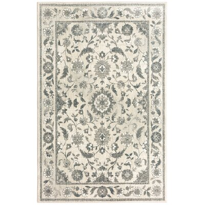 Worthville Ivory/Gray Area Rug Rug Size: Rectangle 8 x 11