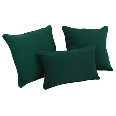 Galbraith 3 Piece Twill Throw Pillow Set Color: Forest Green