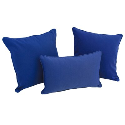 Galbraith 3 Piece Twill Throw Pillow Set Color: Royal Blue