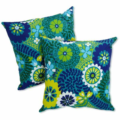 Dewald Outdoor Throw Pillow Color: Luxury Azure
