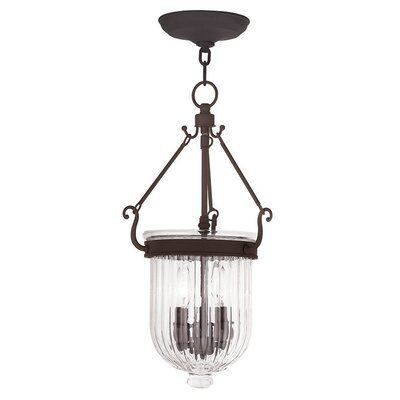 Lindley 3-Light Foyer Pendant Size: 20 H, Finish: Bronze