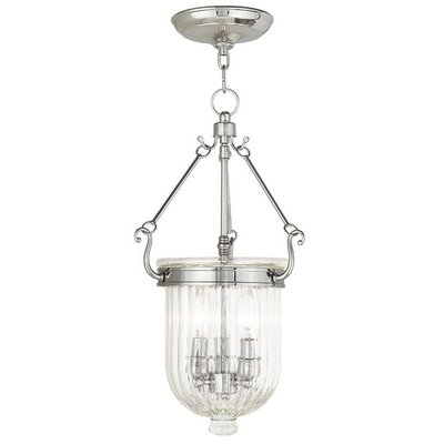 Lindley 3-Light Foyer Pendant Size: 20 H, Finish: Polished Nickel