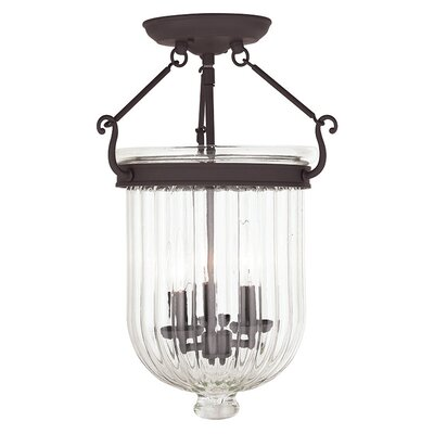 Lindley 3-Light Semi Flush Mount Finish: Bronze