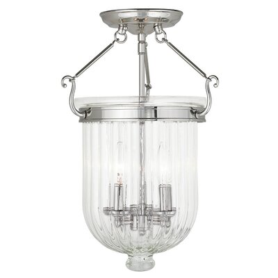 Lindley 3-Light Semi Flush Mount Finish: Polished Nickel