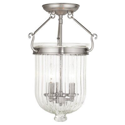 Lindley 3-Light Semi Flush Mount Finish: Brushed Nickel