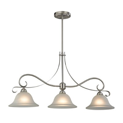 Drumfin 3-Light Kitchen Island Pendant Finish: Brushed Nickel