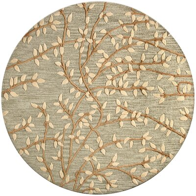 Richford Hand-Tufted Light Green Area Rug Rug Size: Round 6