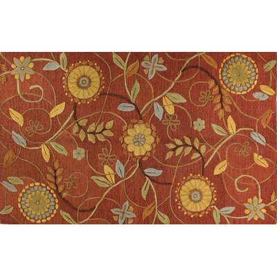 Ridley Hand-Tufted Rust Area Rug Rug Size: Runner 2'6
