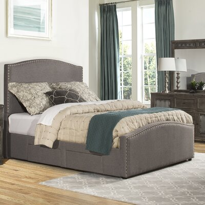 Harleigh Adjustable Storage Upholstered Panel Bed Size: California King