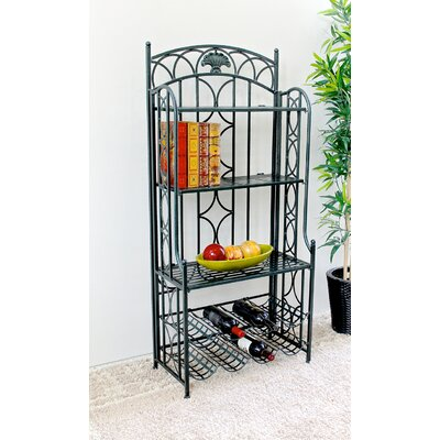 Abbottsmoor 5-Tier Iron Indoor/Outdoor Bakers Rack Finish: Verdigris