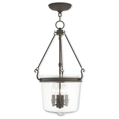 Acton 4-Light Foyer pendant Finish: Bronze
