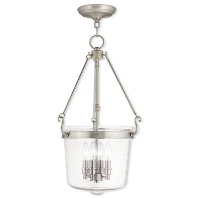 Acton 4-Light Foyer pendant Finish: Brushed Nickel