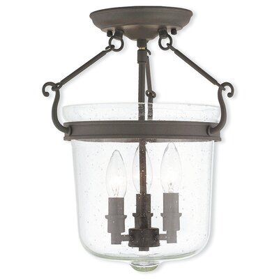Acton 3-Light Foyer Pendant Finish: Bronze