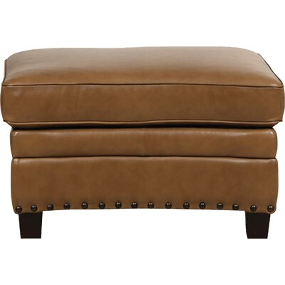 Hubbard Leather Ottoman