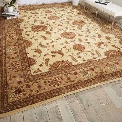 Proctorville Ivory Area Rug Rug Size: 96 x 13