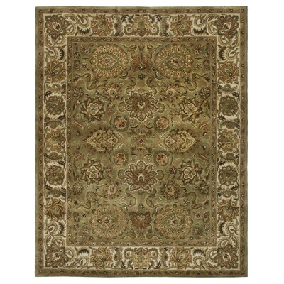 Wiedeman Hand-Tufted Wool Brown Kashan Rug Rug Size: Square 6