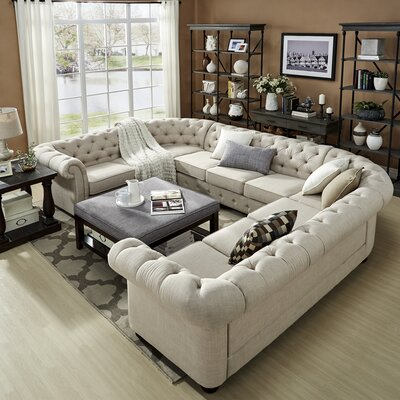 Gowans Sectional Upholstery: Beige