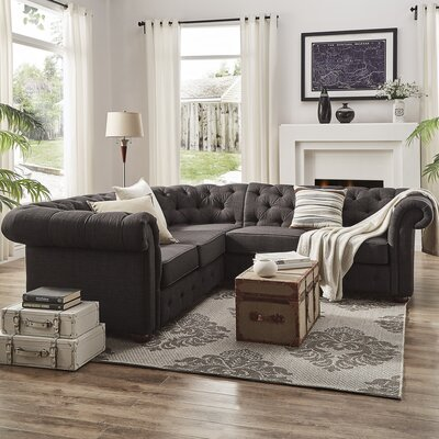 Jeffersonville Sectional Upholstery: Dark Gray