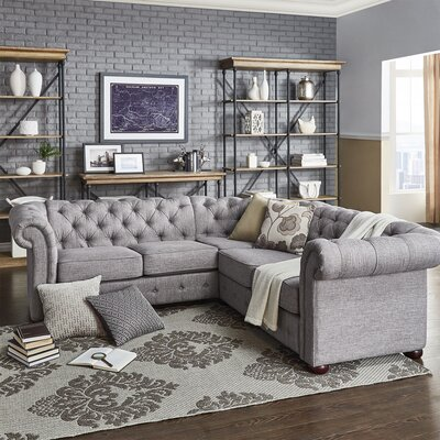 Jeffersonville Sectional Upholstery: Gray