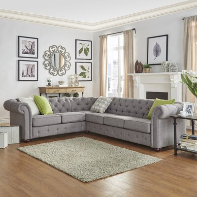 Gowans Tufted Sectional Upholstery: Gray