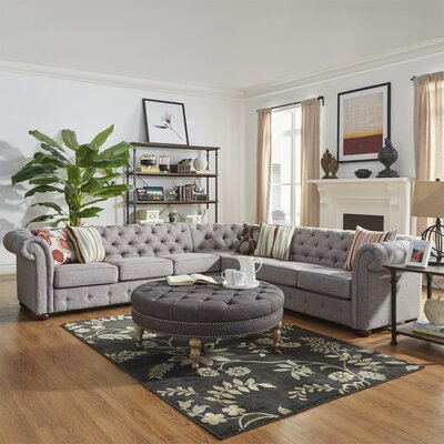 Gowans Sectional Collection Upholstery: Gray