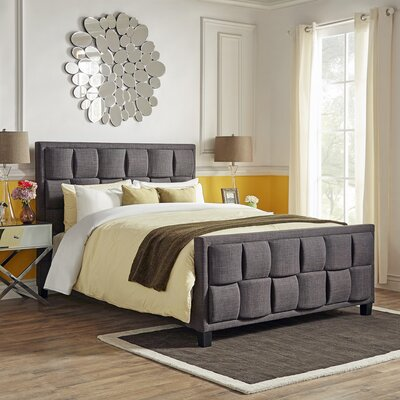 Dartmouth Upholstered Panel Bed Upholstery: Dark Gray, Size: King