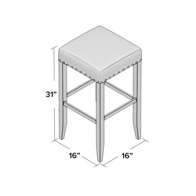 Stafford 30 Bar Stool Upholstery: Brown, Frame Color: Black