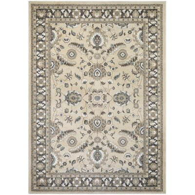 Germantown Beige/Charcoal Area Rug Rug Size: 53 x 76