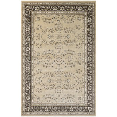 Germantown Beige/Charcoal Area Rug Rug Size: 82 x 111