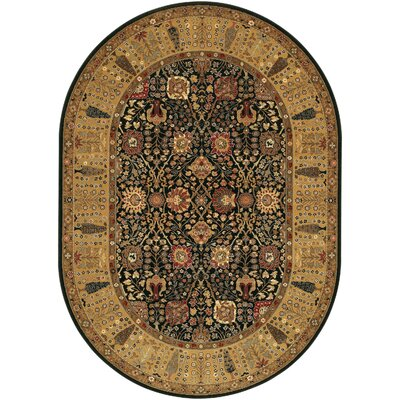 Edwards Brown Area Rug Rug Size: Oval 53 x 76