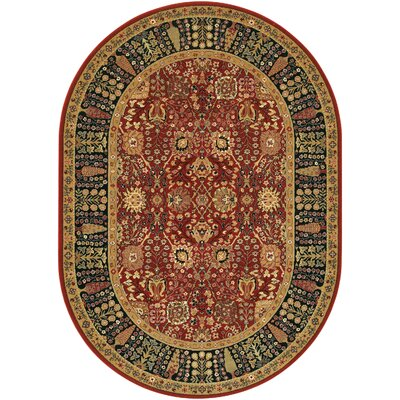 Edwards Red Area Rug Rug Size: Oval 311 x 66