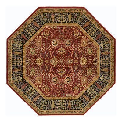 Edwards Red Area Rug Rug Size: Octagon 66